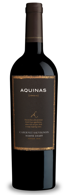 Aquinas 2015 Cab Sauv bottle